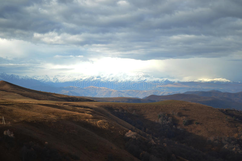 The Caucasus Mountains royalty free stock photography