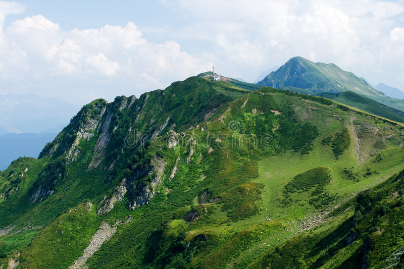 Caucasus mountains royalty free stock photos