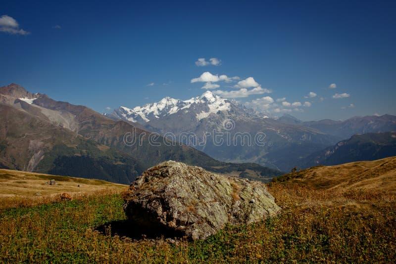 The Caucasus mountains in Georgia country. Beautiful mountain la stock photo