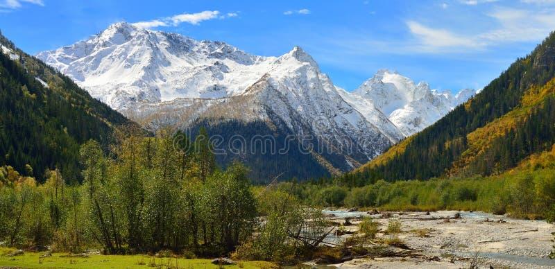 Caucasus panorama stock images