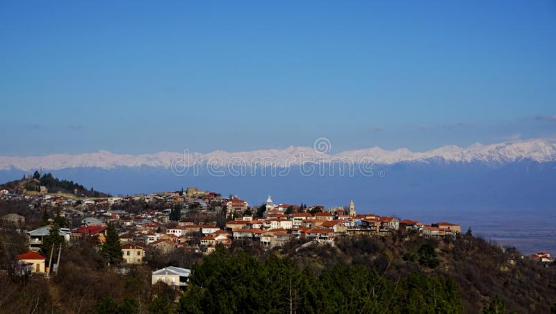 Caucasus. View of Caucasus and Sighnaghi royalty free stock photos