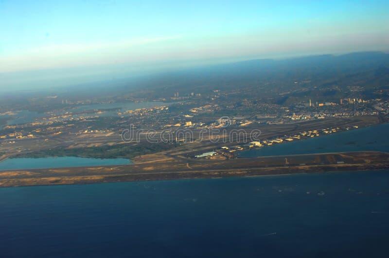 Cauce del aeropuerto en Oahu Hawaii imagenes de archivo