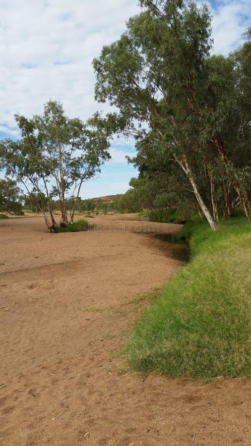 Cauce del río de Alice Springs fotos de archivo