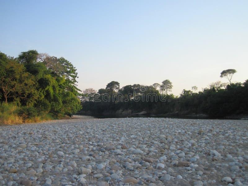 Cauce del río rocoso imagen de archivo