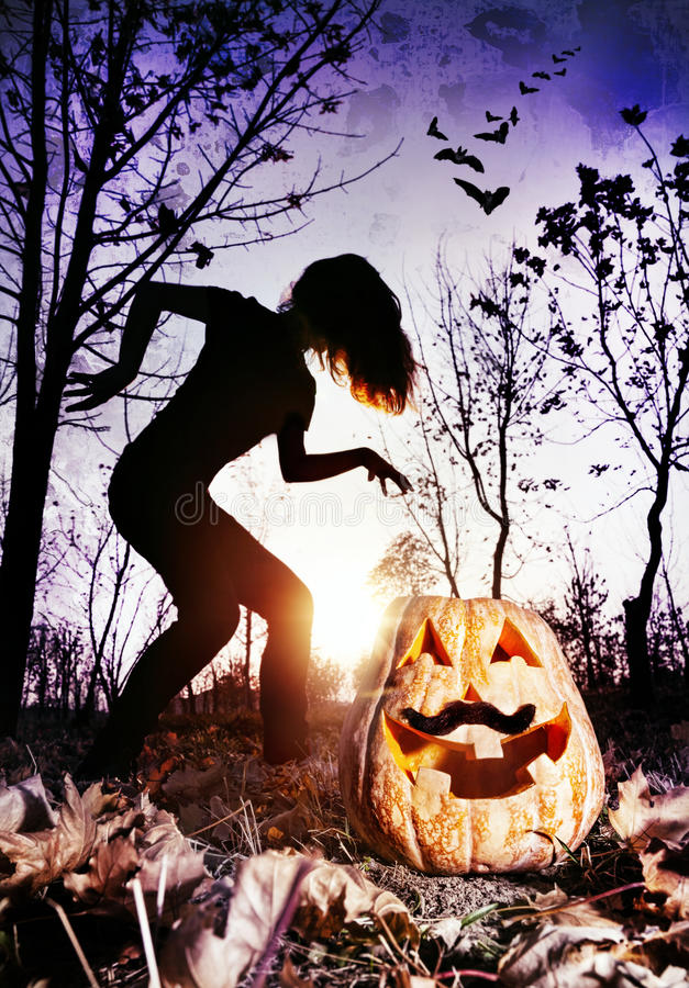 Cauchemar de Halloween images libres de droits