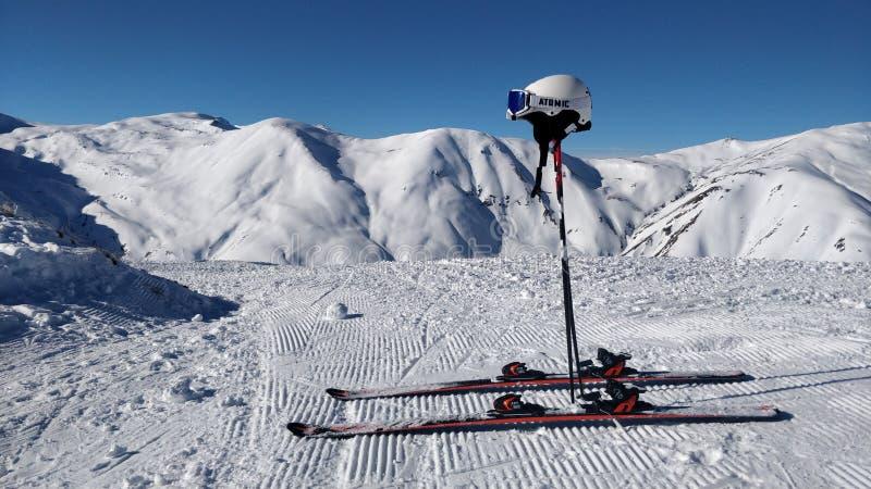 Cauchemar de ski atomique images libres de droits