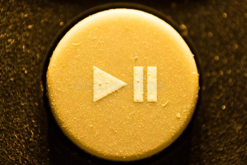 Caucho del juego del botón del teledirigido TV fotos de archivo