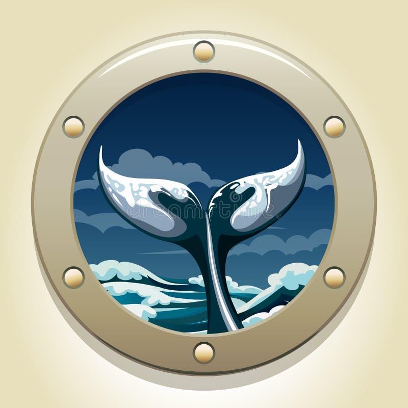 Cauda da baleia ilustração stock