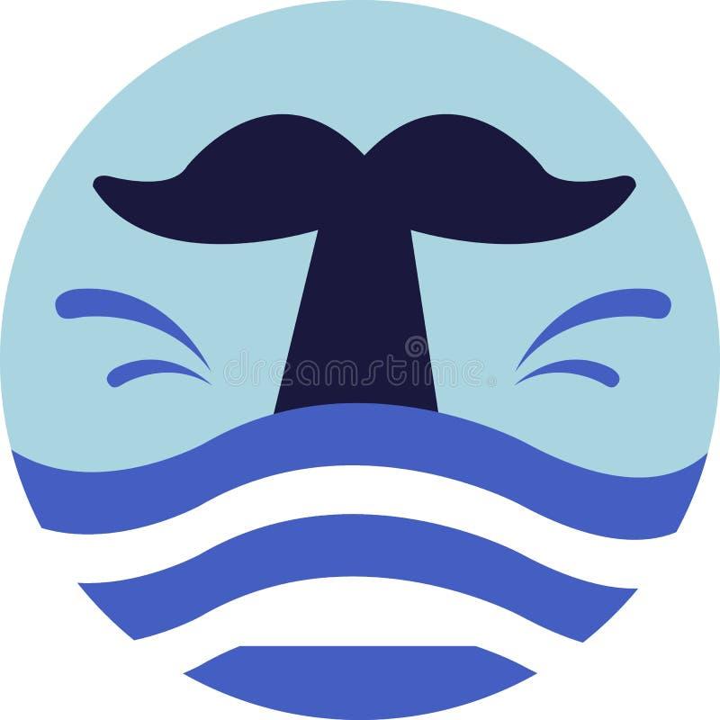 Cauda da baleia ilustração do vetor