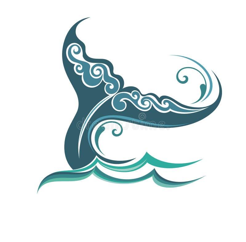 A cauda de uma baleia ilustração royalty free