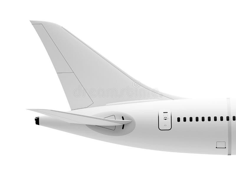 Cauda do avião imagens de stock