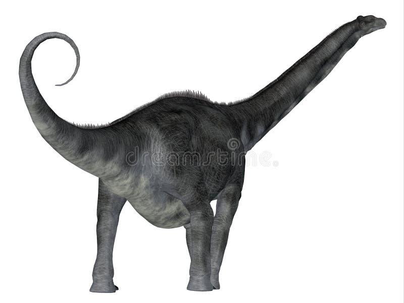 Cauda do dinossauro do Argentinosaurus ilustração stock