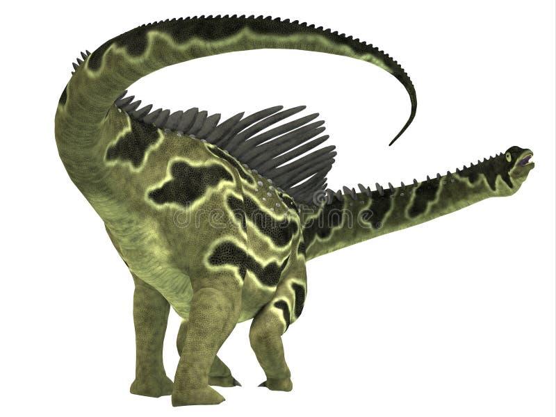 Cauda do dinossauro de Agustinia ilustração stock