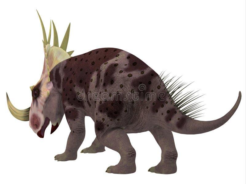 Cauda do dinossauro de Rubeosaurus ilustração royalty free