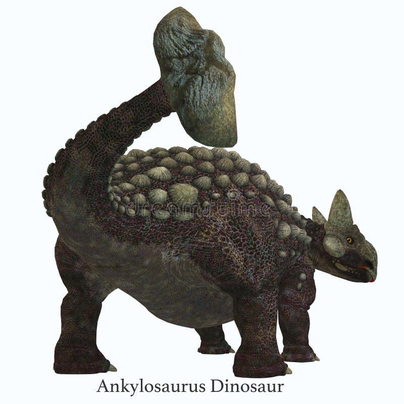 Cauda do dinossauro do Ankylosaurus com fonte ilustração royalty free
