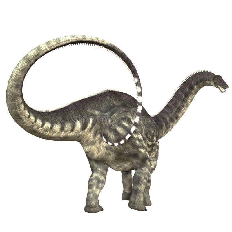 Cauda do dinossauro do Apatosaurus ilustração do vetor
