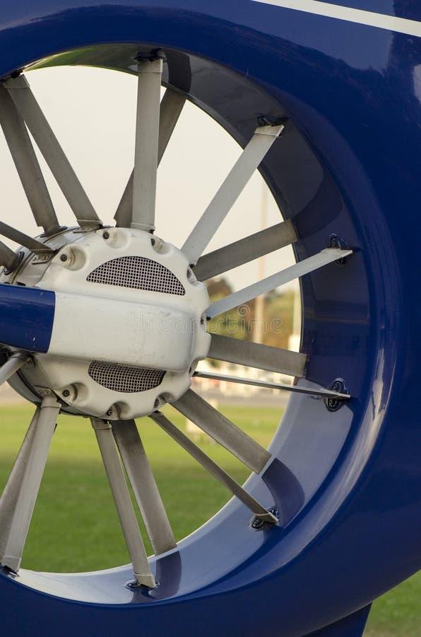 Cauda do rotor do helicóptero fotografia de stock royalty free