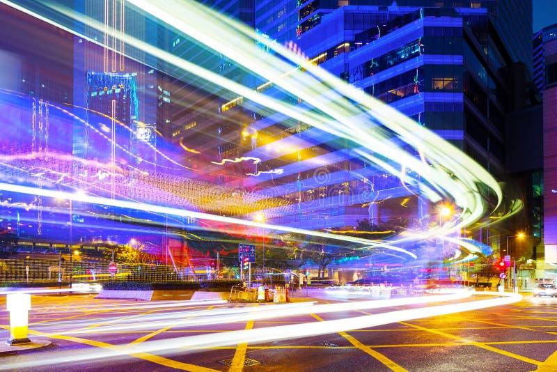 Cauda do tráfego em Hong Kong fotos de stock