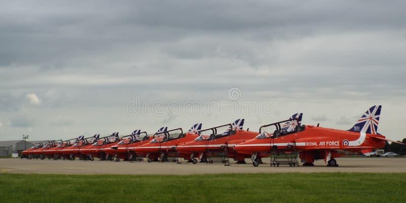 Cauda nova de Raf Red Arrows 2014 imagens de stock royalty free