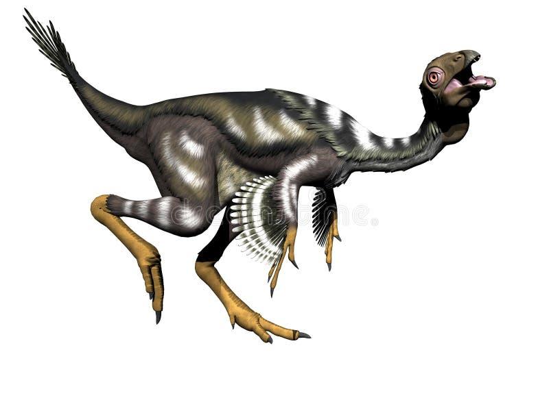 Caudipteryx dinosaurie - 3d framför royaltyfri illustrationer
