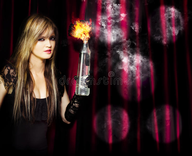 Download Caught In The Act Of Setting The Stage On Fire Stock Image - Image: 25163929