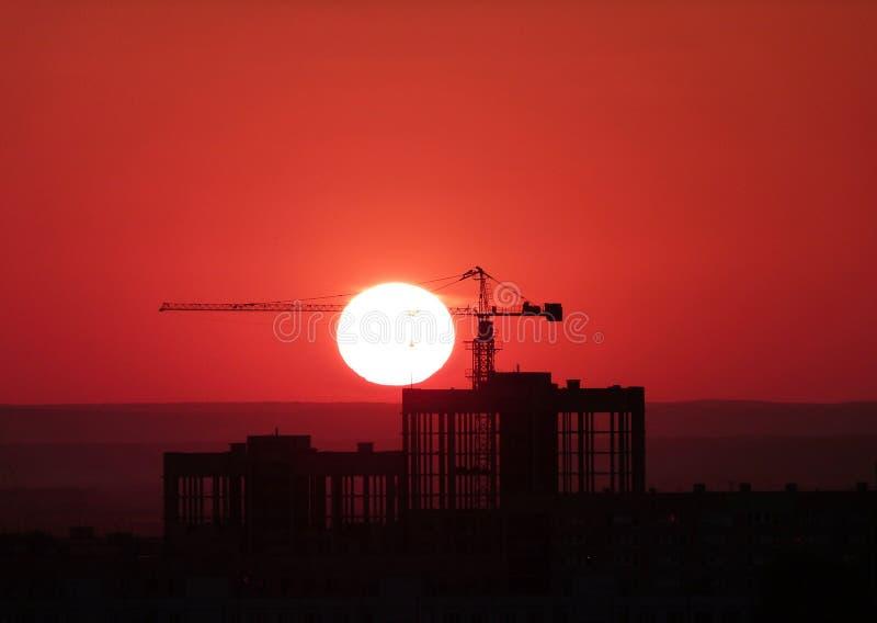 Caught sun. Sun looks like it's been caught royalty free stock photo