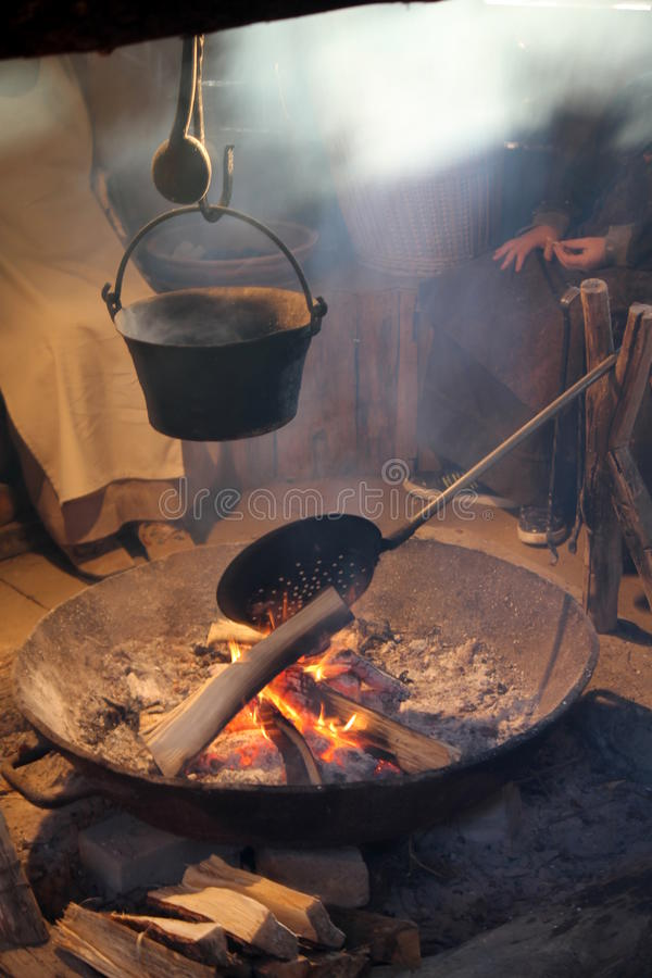 Download Cauldron On The Fire Stock Photo - Image: 36605240