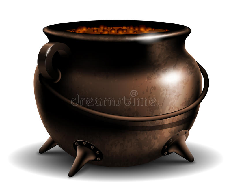 Cauldron with potion stock illustration