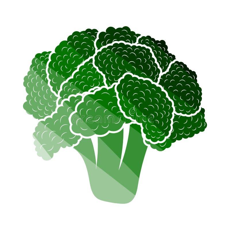 Cauliflower Icon. Flat Color Ladder Design. Vector Illustration vector illustration