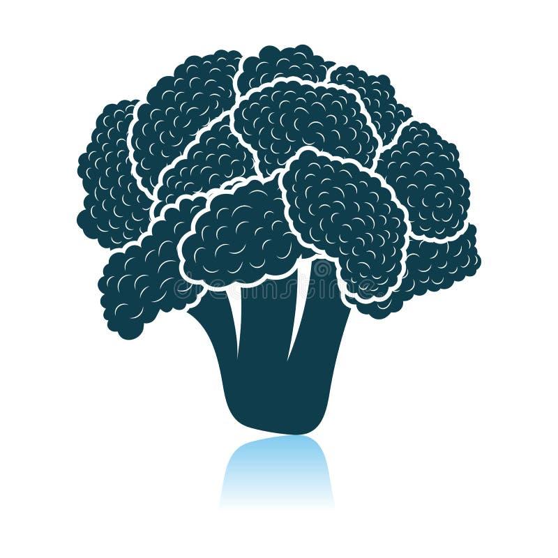 Cauliflower Icon. Shadow Reflection Design. Vector Illustration royalty free illustration
