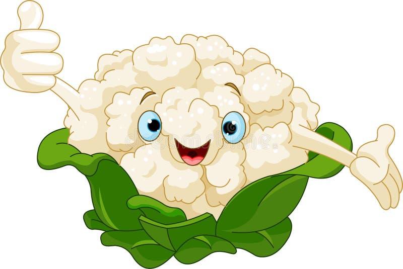 Cauliflower Presenting Something. Cartoon cute Cauliflower presenting something vector illustration