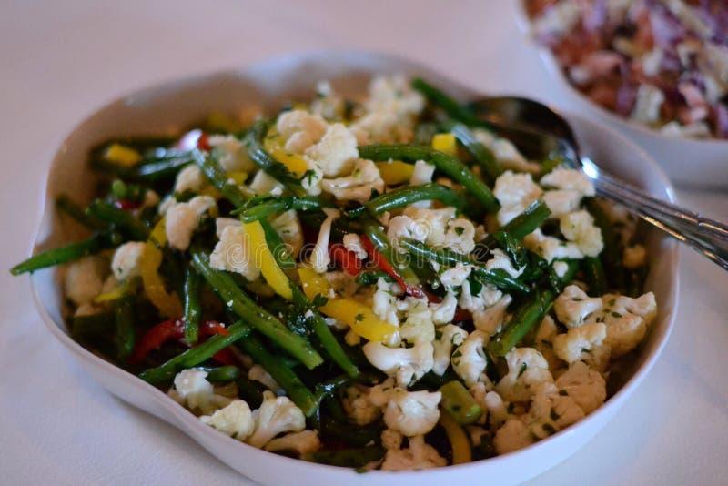 Cauliflower salad stock image