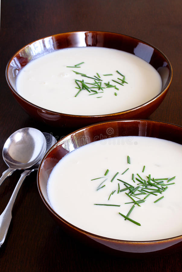 Cauliflower soup. A delicious nutritious meal in a bowl for those cold fall and winter days stock photos