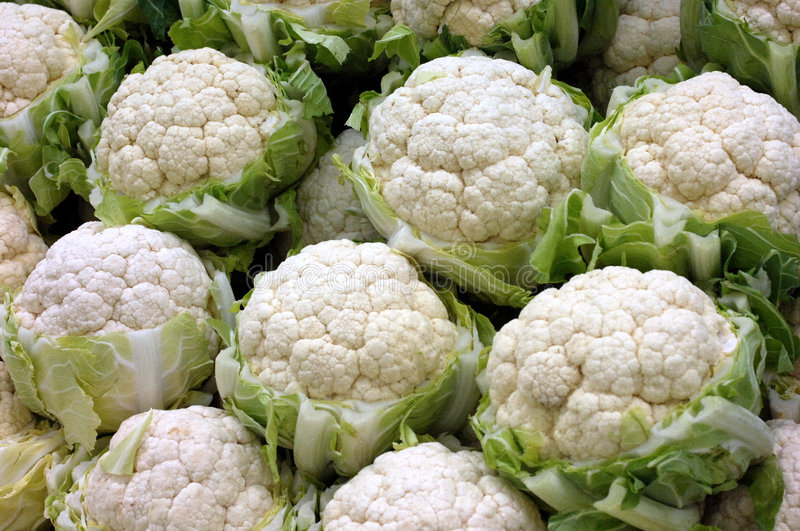 Download Cauliflowers at the market stock image. Image of market - 7649277