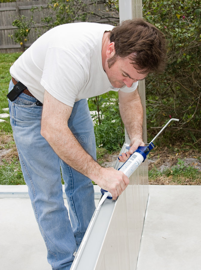 Caulking Project Royalty Free Stock Images