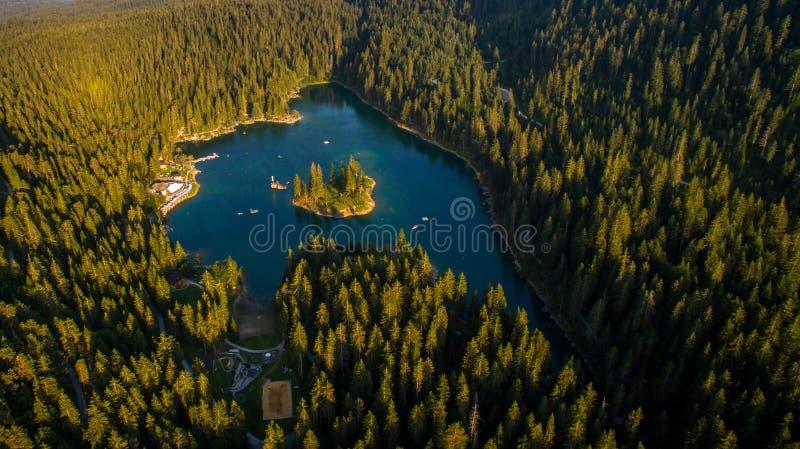 Caumasee в Швейцарии стоковое фото rf