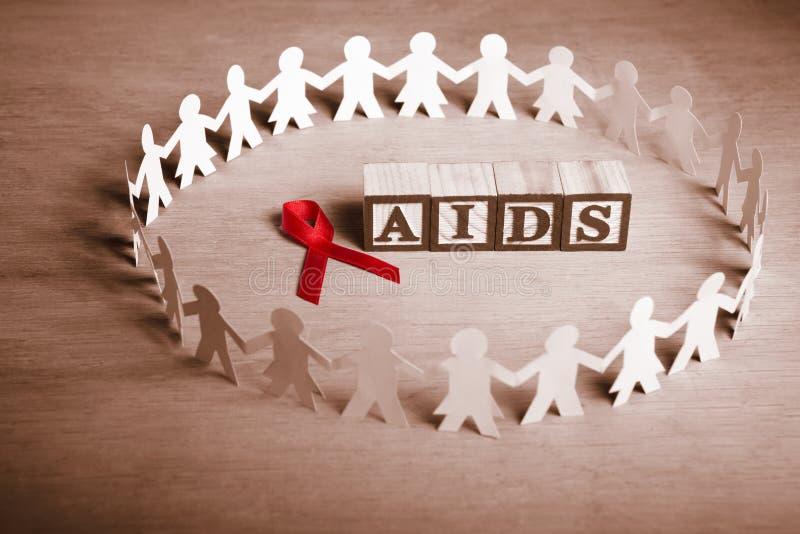 Causa de la ayuda del SIDA imagenes de archivo