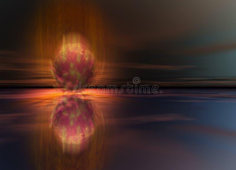 Causar um crash da bola de fogo do meteoro ou do cometa ilustração royalty free