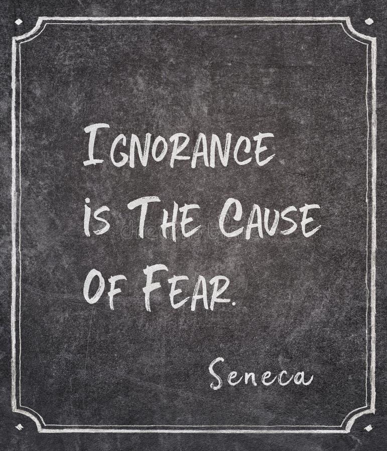 Cause de citation de Sénèque de crainte images libres de droits