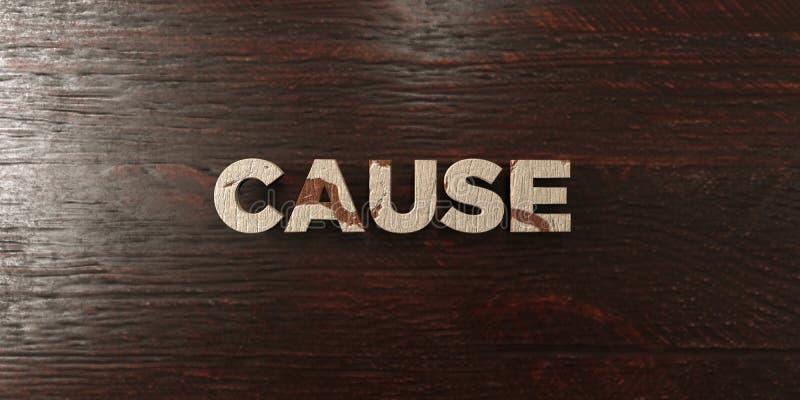 Cause - titre en bois sale sur l'érable - image courante gratuite de redevance rendue par 3D illustration libre de droits