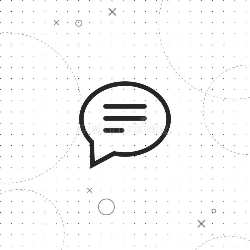 Causerie, courrier, icône de vecteur de commentaire illustration libre de droits