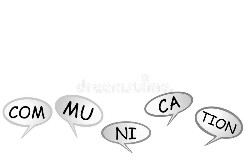 Causerie de bulle - communication, d'isolement sur le blanc illustration de vecteur