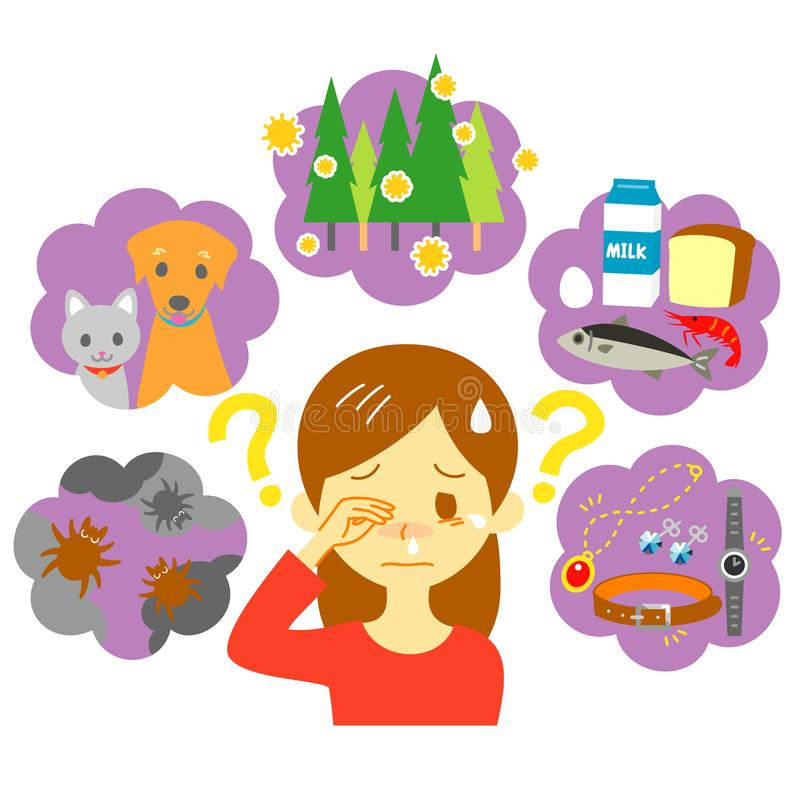 causes d'allergie illustration stock