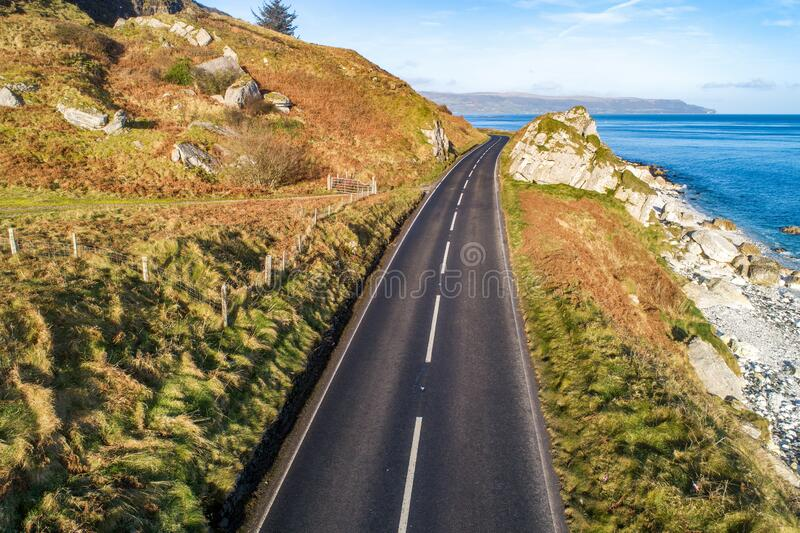 Causeway Coastal Route in Northern Ireland royalty free stock photos