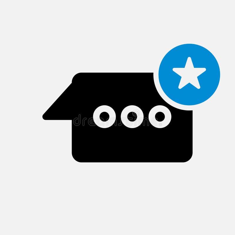 Causez l'icône, icône de multimédia avec le signe d'étoile Causez l'icône et mieux, favori, évaluant le symbole illustration stock