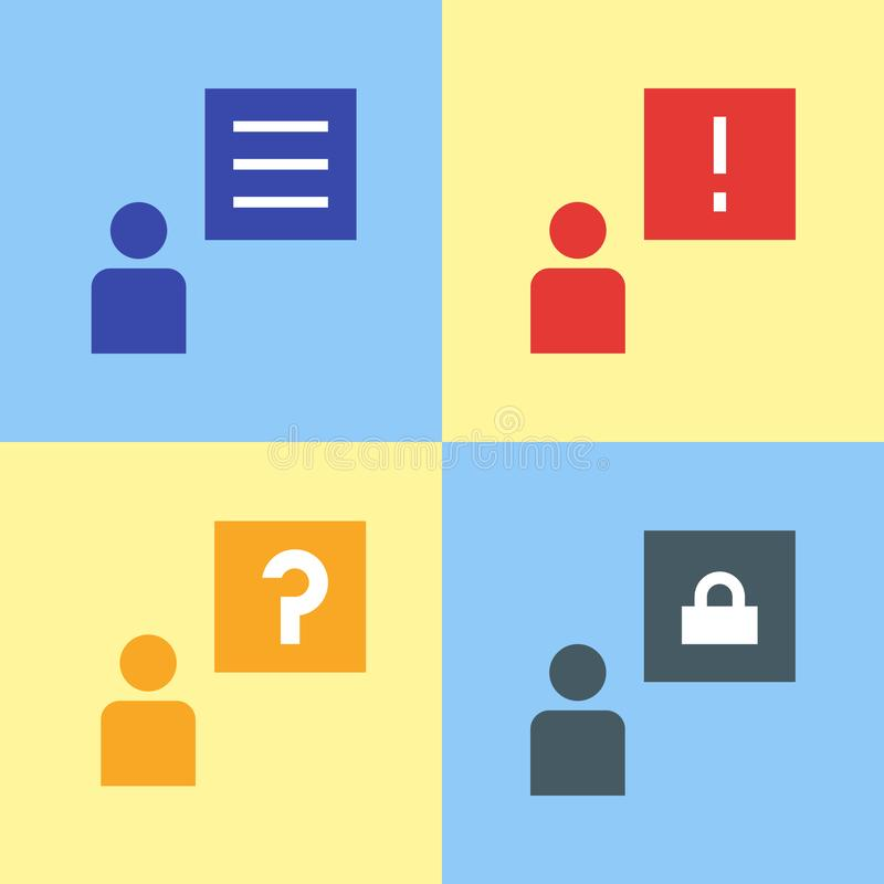 Causez la bulle, avis de messages de vecteur, illustration de conception d'icône illustration stock
