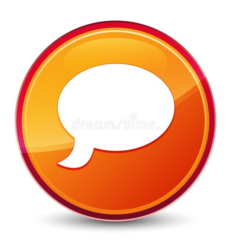 Causez le bouton rond orange vitreux spécial d'icône illustration de vecteur