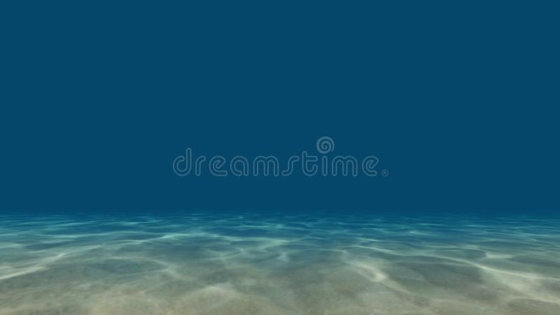 Caustics at the bottom of the sea 3D render royalty free stock photos