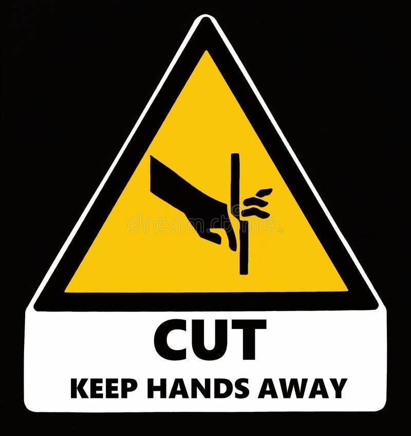 Cautela, taglio Tenga le mani via Segno di rischio royalty illustrazione gratis