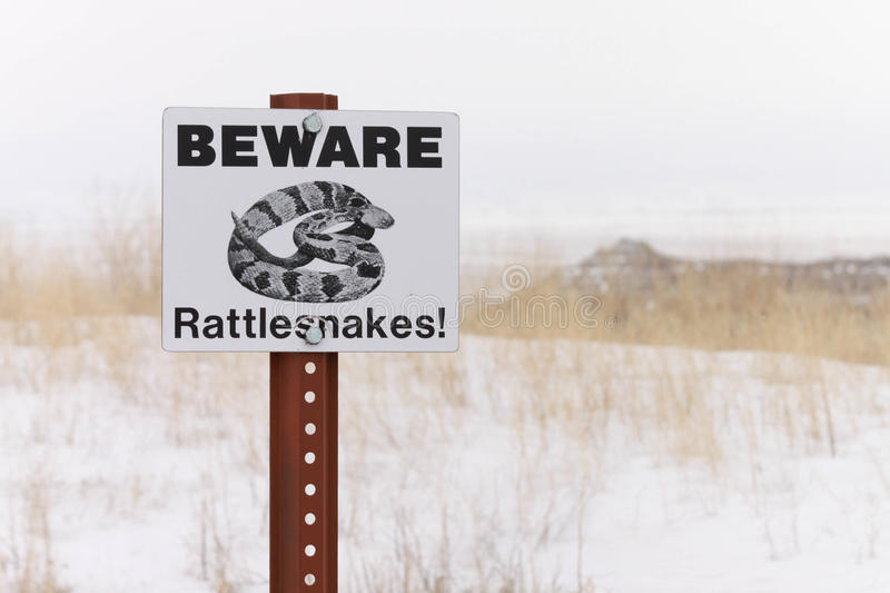 Download Caution stock photo. Image of snake, snow, danger, sign - 25393478